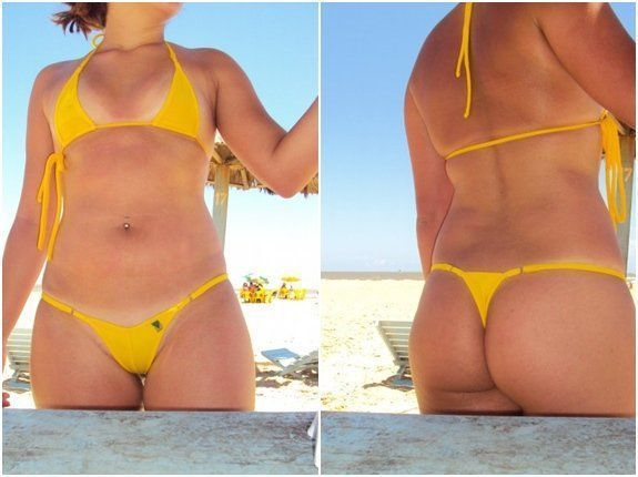 Larissa casada de biquíni na praia