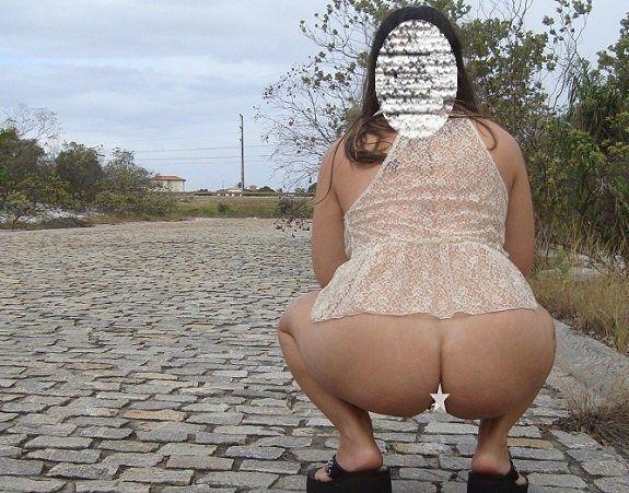 Fotos esposa pelada na rua