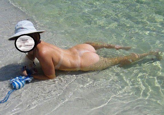 Darlene coroa pelada na praia