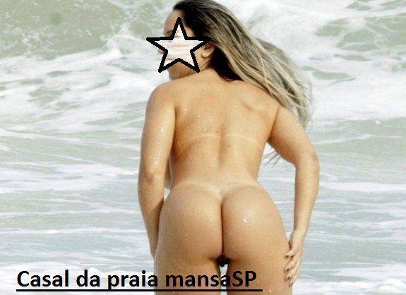 Casal da praia mansaSP esposa nua