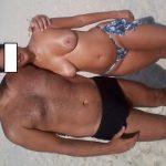 Esposa exibindo seus peitos grandes