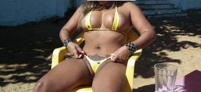 Bunduda tatuada casada exibicionista