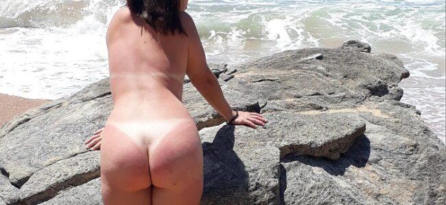 Fotos esposa pelada praia de nudismo
